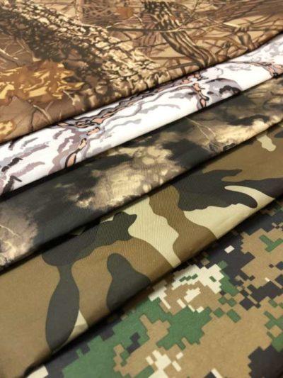 Ткань оксфорд T-210 150D PU1000 камуфляжная